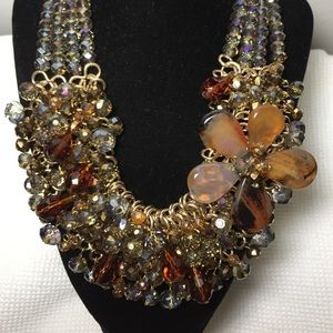 Jewelry - Stunning Collar Amber and Gold Necklace